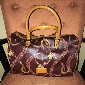 Ralph Lauren Caldwell Satchel Barrel Bag
